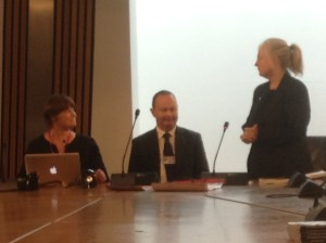 Rebecca Johnson, Bill Kidd MSP and Gari Donn